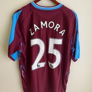 West ham soccer jersey premier league XL Zamora